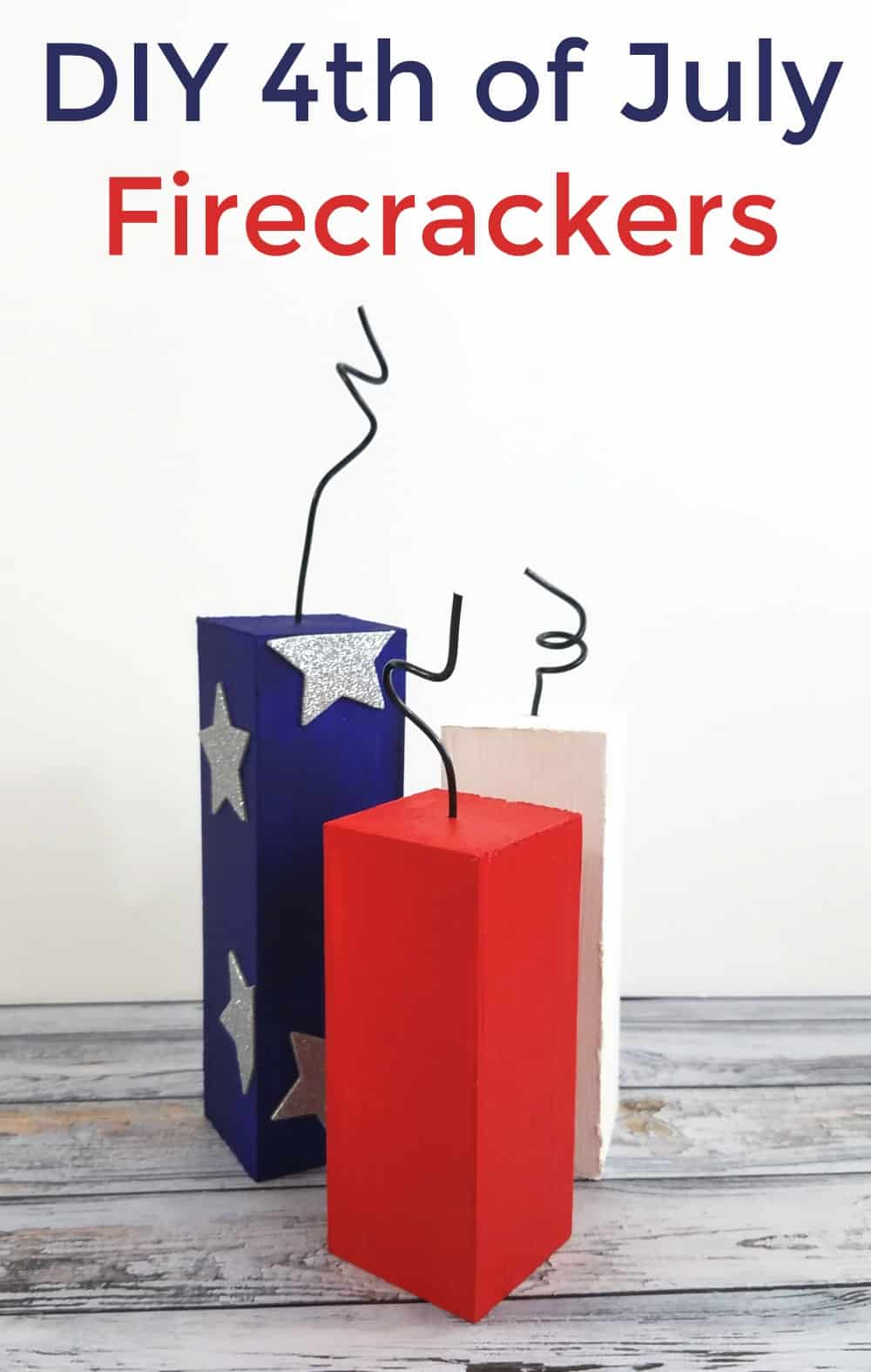 DIY 4th of July Firecrackers Craft