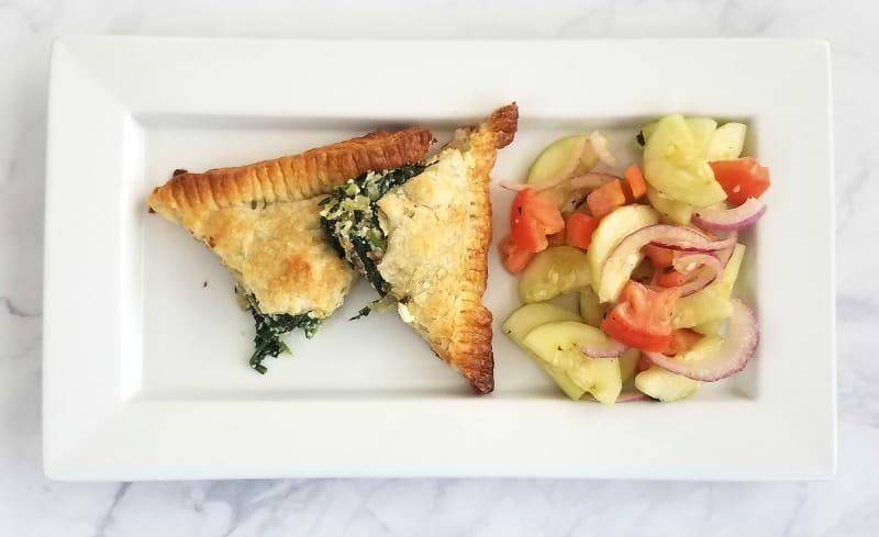 Spinach and Feta Stuffed Tart