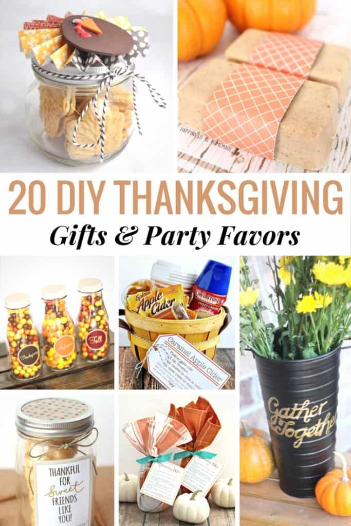 20 DIY Thanksgiving Gifts & Party Favors