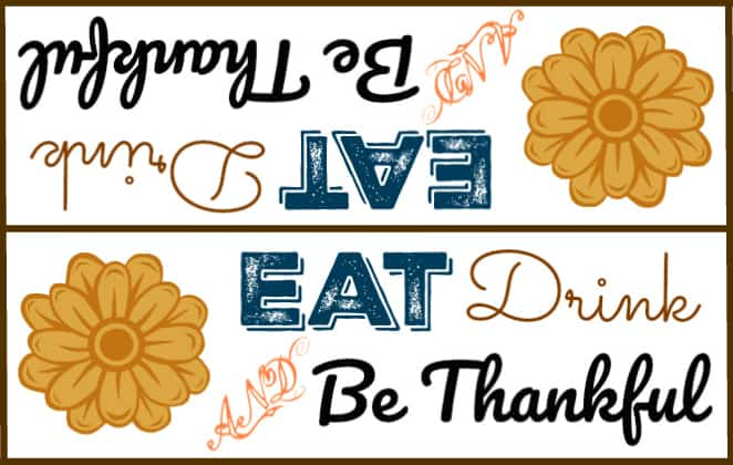 Free Thanksgiving Bag Topper Printables