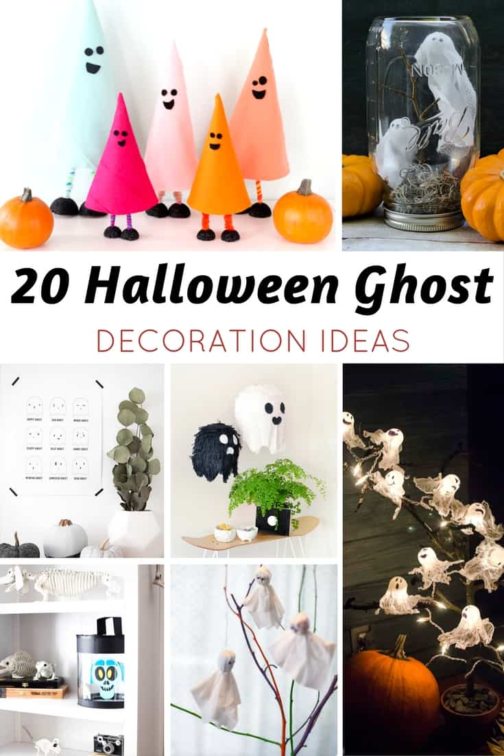 20 halloween ghost decoration ideas for Ghost decoration ideas