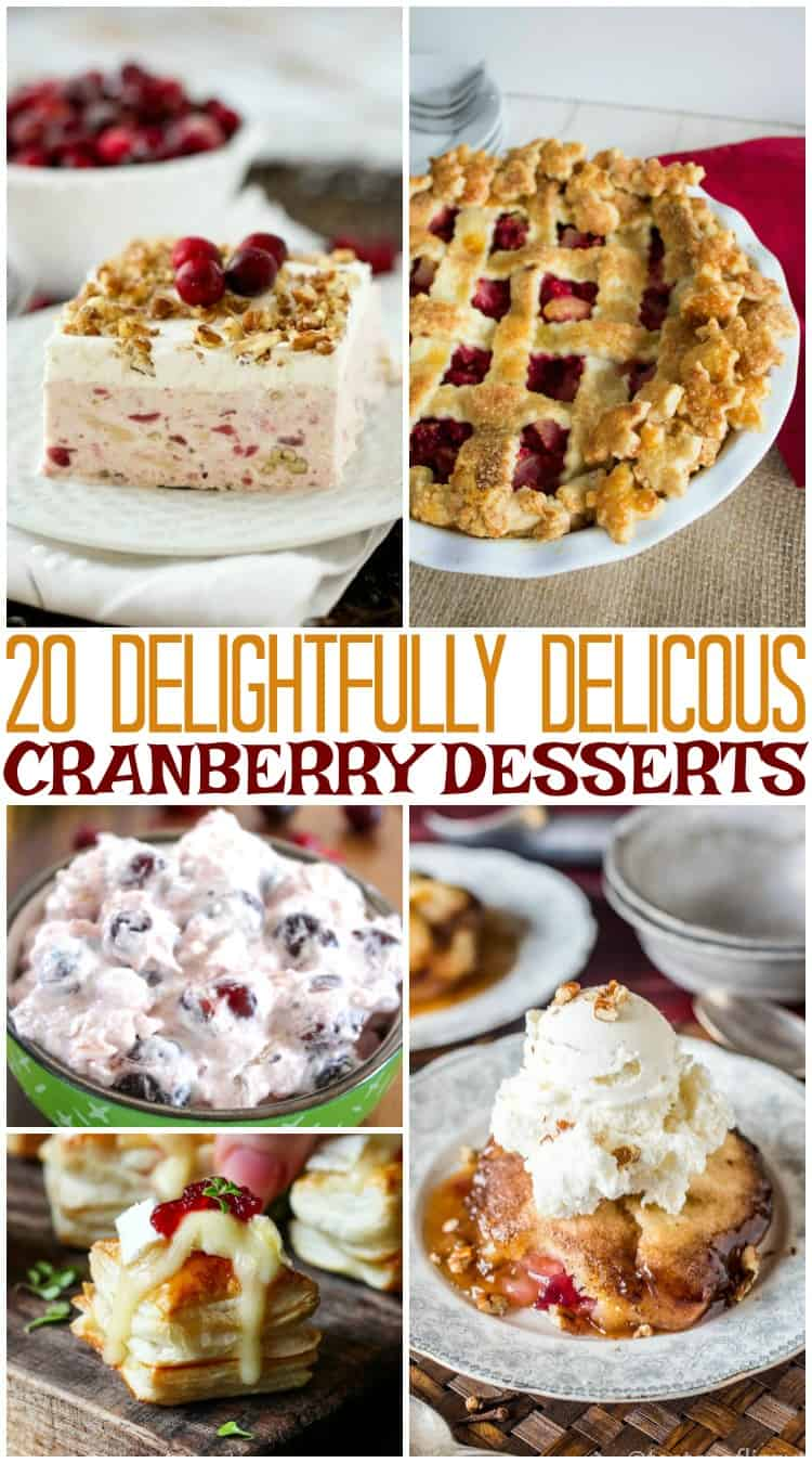 20 Delightfully Delicious Cranberry Desserts for Thanksgiving