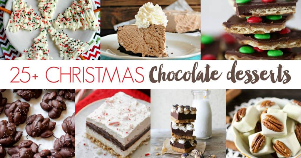 25+ Christmas Chocolate Desserts
