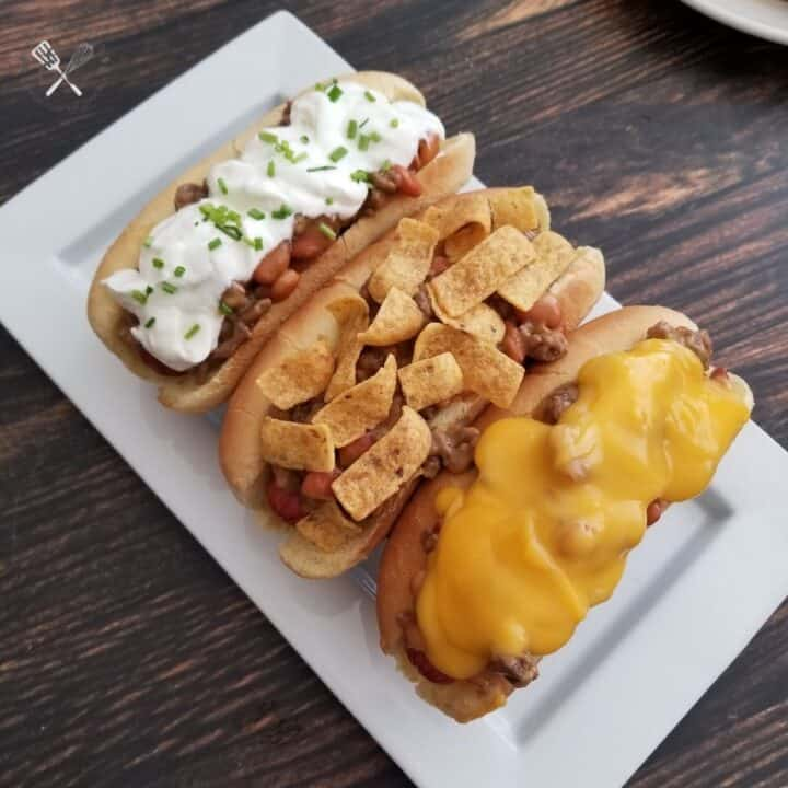Easy Chili Cheese Dogs
