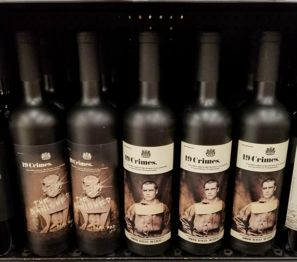 19 Crimes Wine and Living Wine Labels