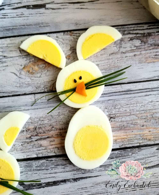 Hard-Boiled Egg Easter Bunny