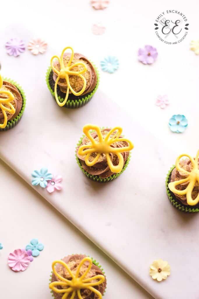 Mini Flower Cupcakes