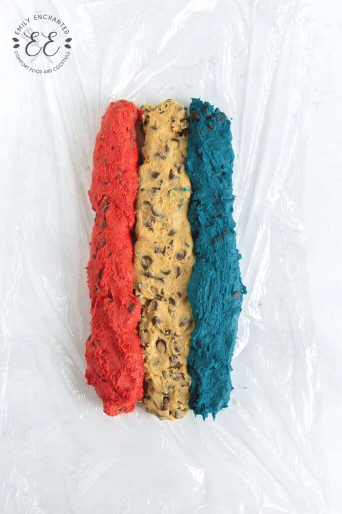 Red and Blue Cookie Dough