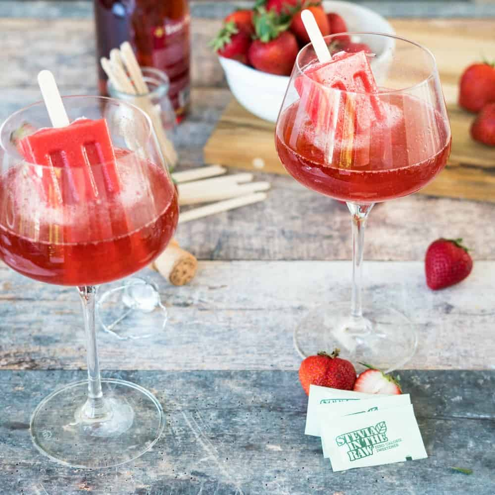 Strawberry Rosé Popsicle Punch Recipe