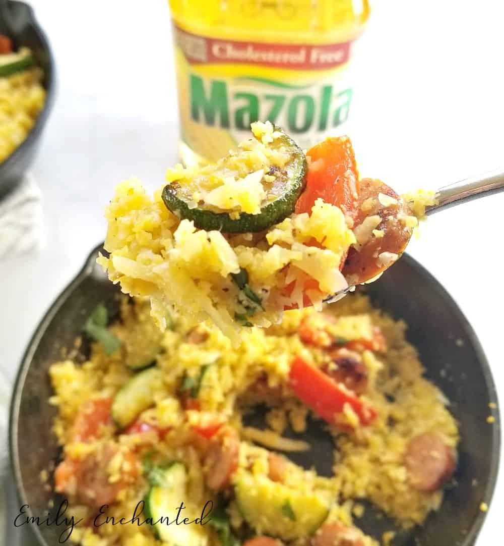 Chicken Sausage and Cauliflower Rice Skillet