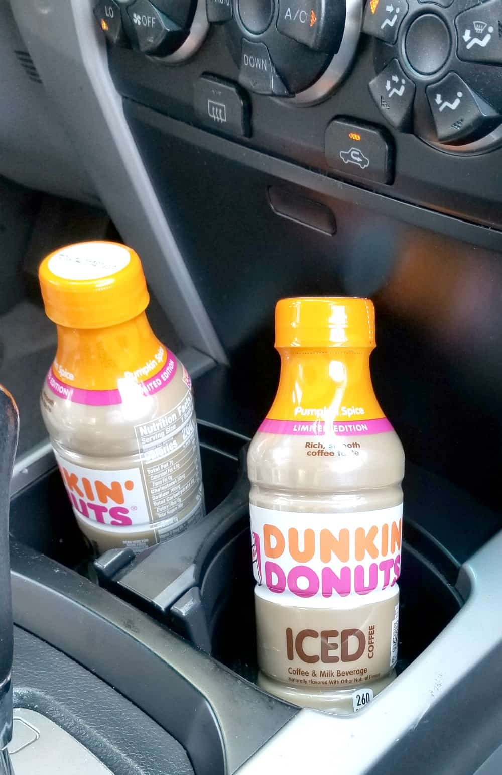 Last Minute Road Trip Essentials  Dunkin' Donuts Bottled Iced Coffee Pumpkin Spice