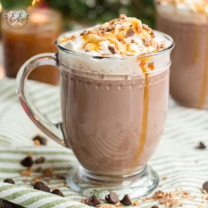 Caramel Rumchata Hot Chocolate in the Slow Cooker