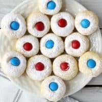 Easy No Bake 4th of July Thumbprint Cookies