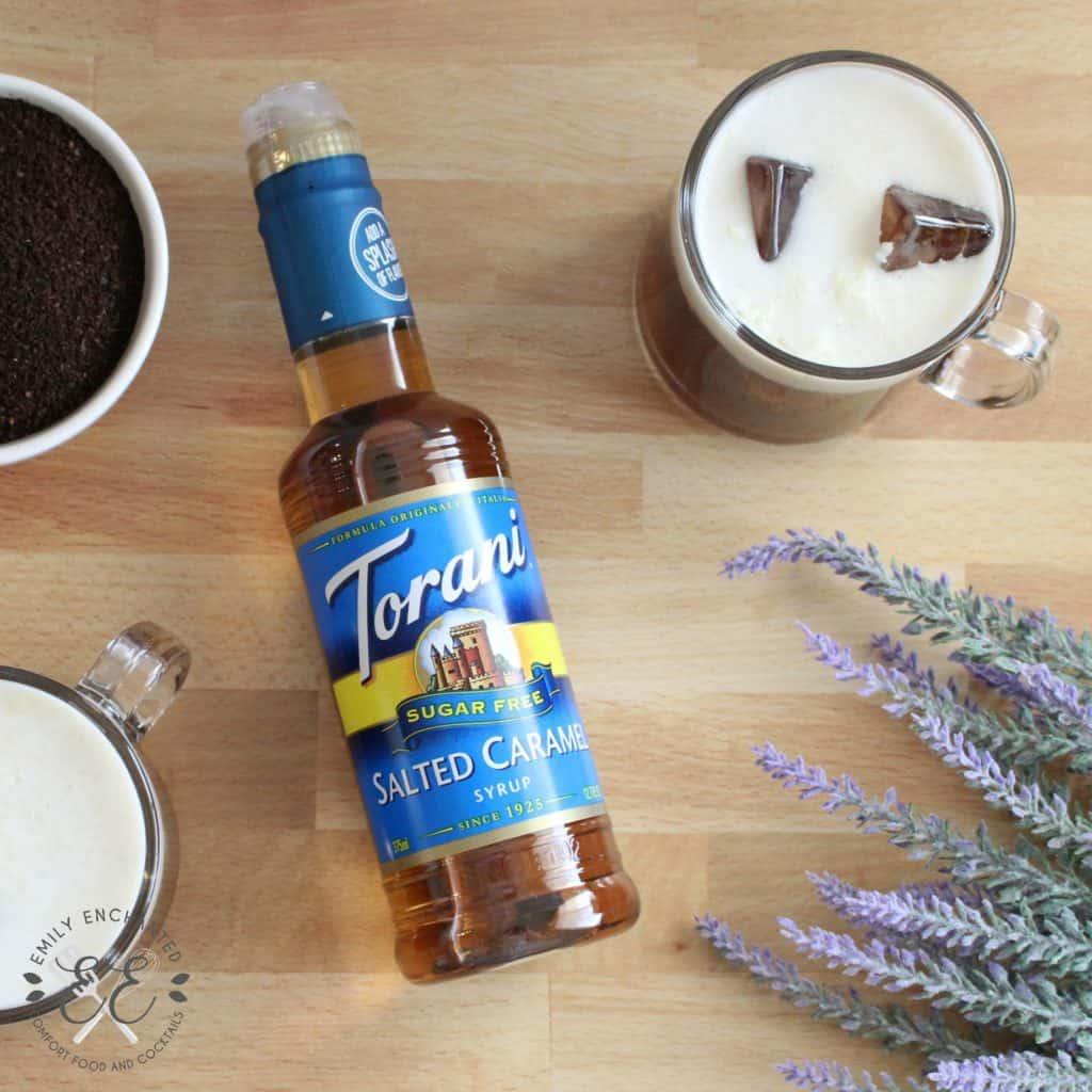 Keto Bulletproof Iced Salted Caramel Latte With Torani