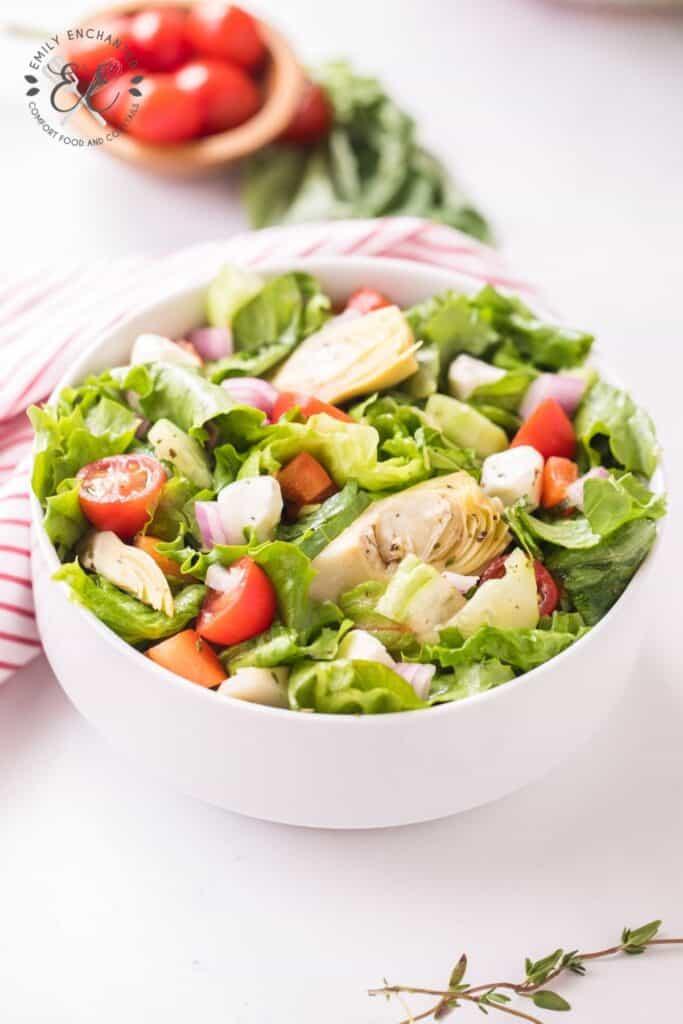 Italian Salad with Dressing