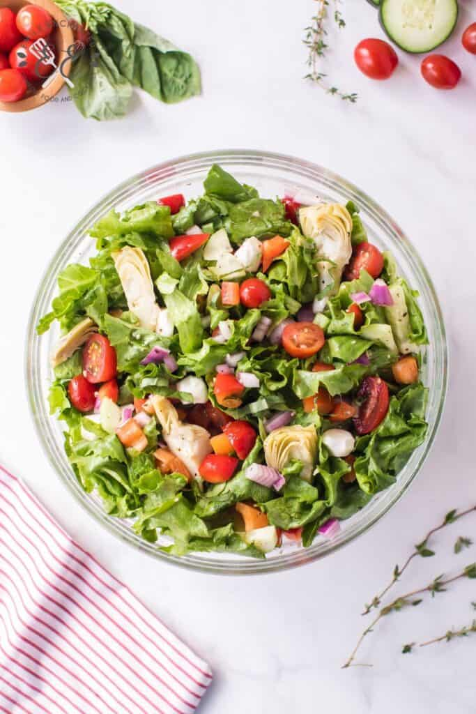 Zesty Italian Salad Recipe with Dressing