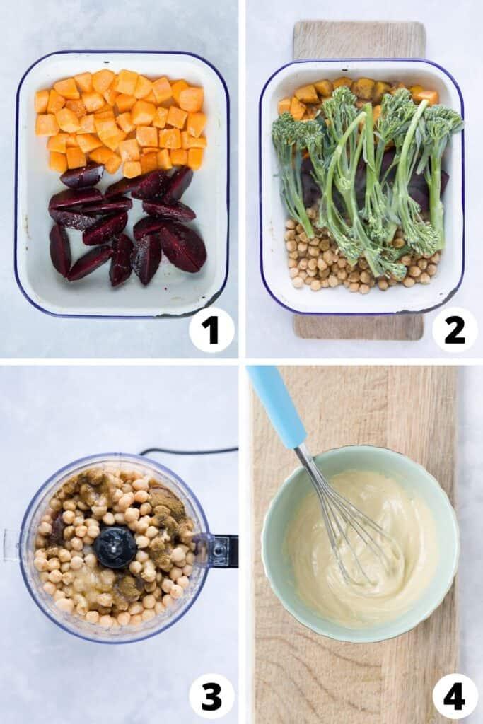 Vegan Macro Bowl with Hummus and Tahini