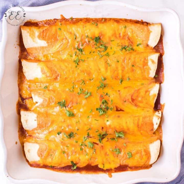 Easy Sour Cream and Cheese Enchiladas Recipe