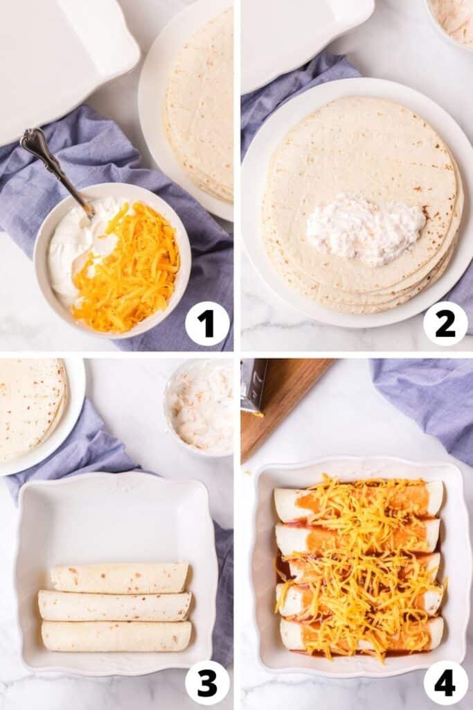 Sour Cream and Cheese Enchiladas