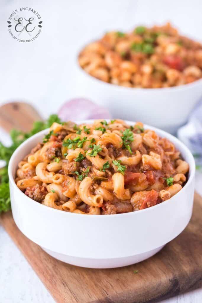 Easy Beef Goulash with Macaroni