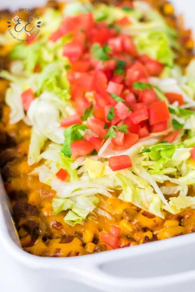 Mexican Tacos in a Casserole Dish