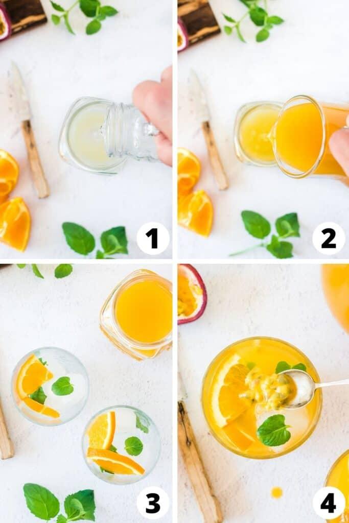 Passion Fruit and Orange Mojito
