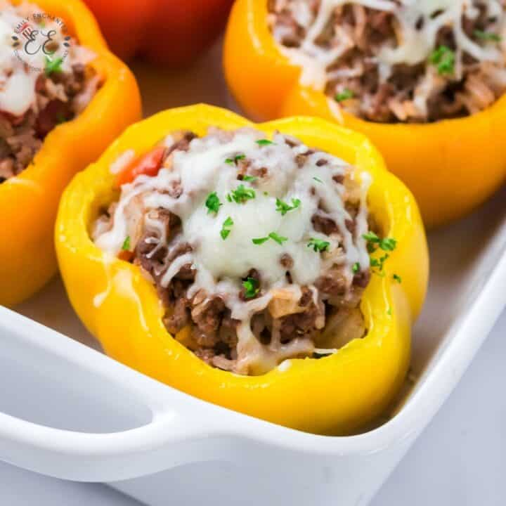 Cheesy Stuffed Peppers with Beef