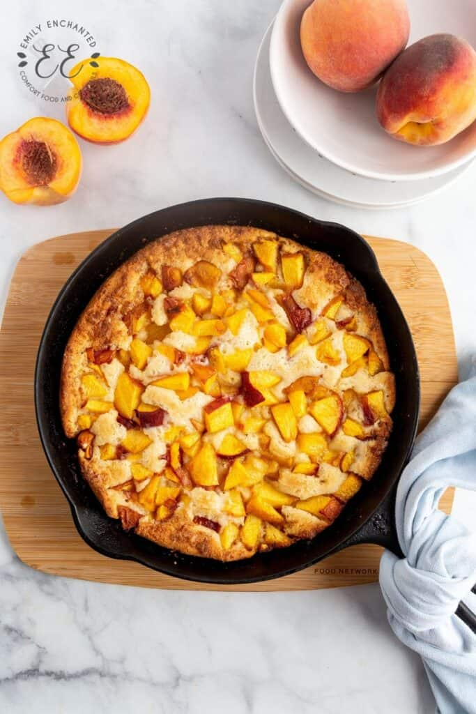 Skillet Peach Cobbler Recipe