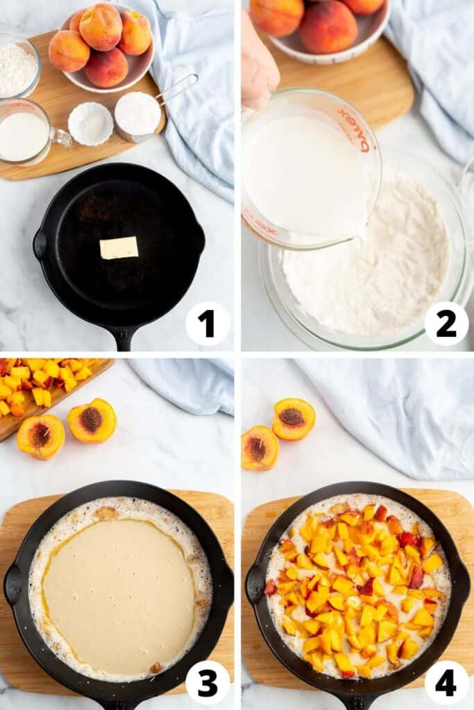 Peach Cobbler with Cake Batter