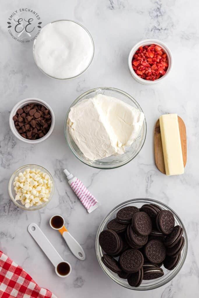Neapolitan Cheesecake Bars Ingredients