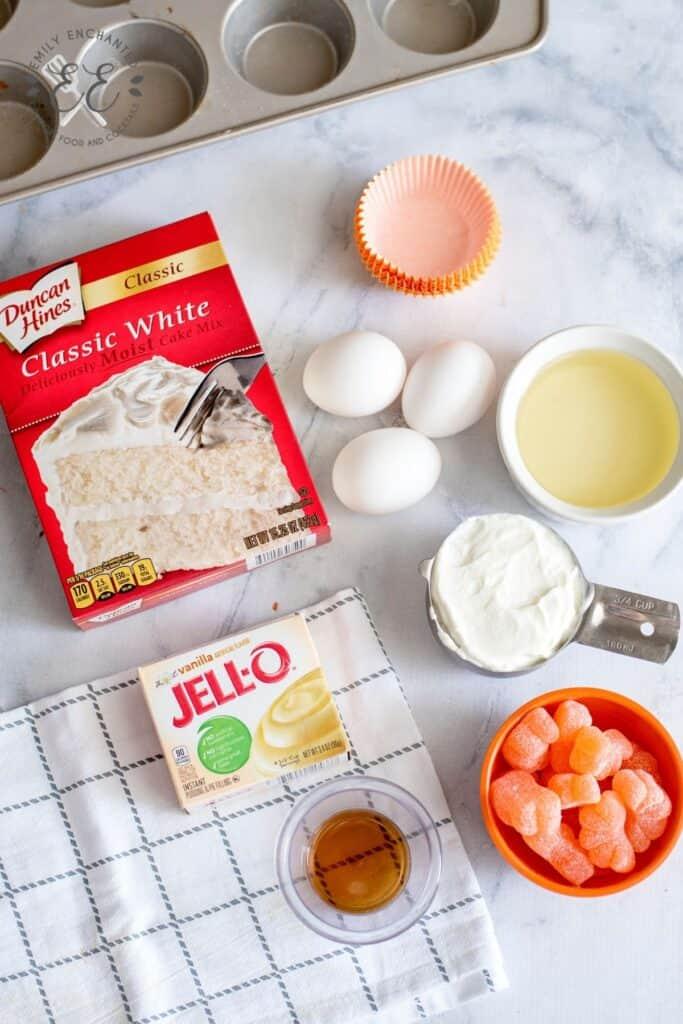 Orange Cupcakes Ingredients