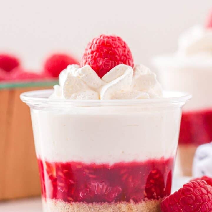Raspberry Cheesecake Dessert Shooters