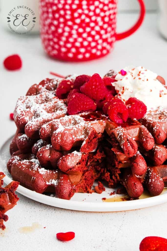 Red Velvet Chocolate Waffles