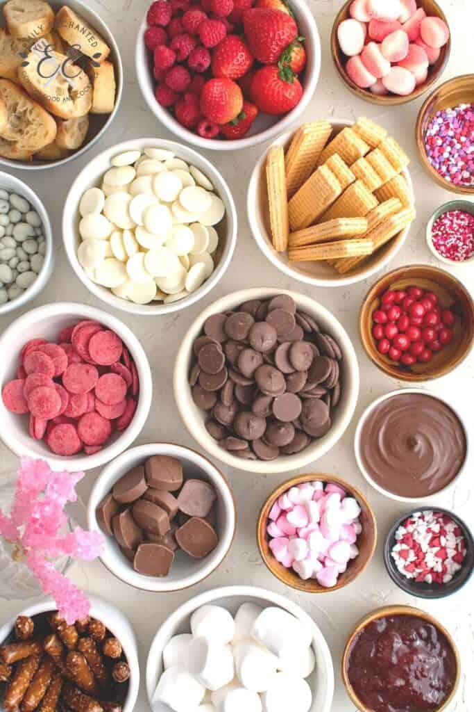 Sweet Charcuterie Board Ingredients
