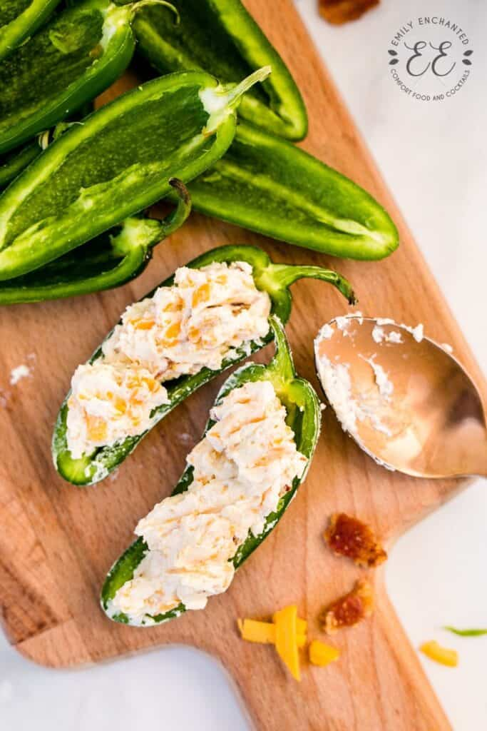 Jalapenos Stuffed with Cream Cheese Filling