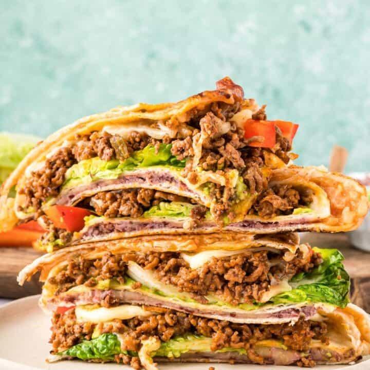 Beef Taco Foldover (TikTok Wrap Hack)