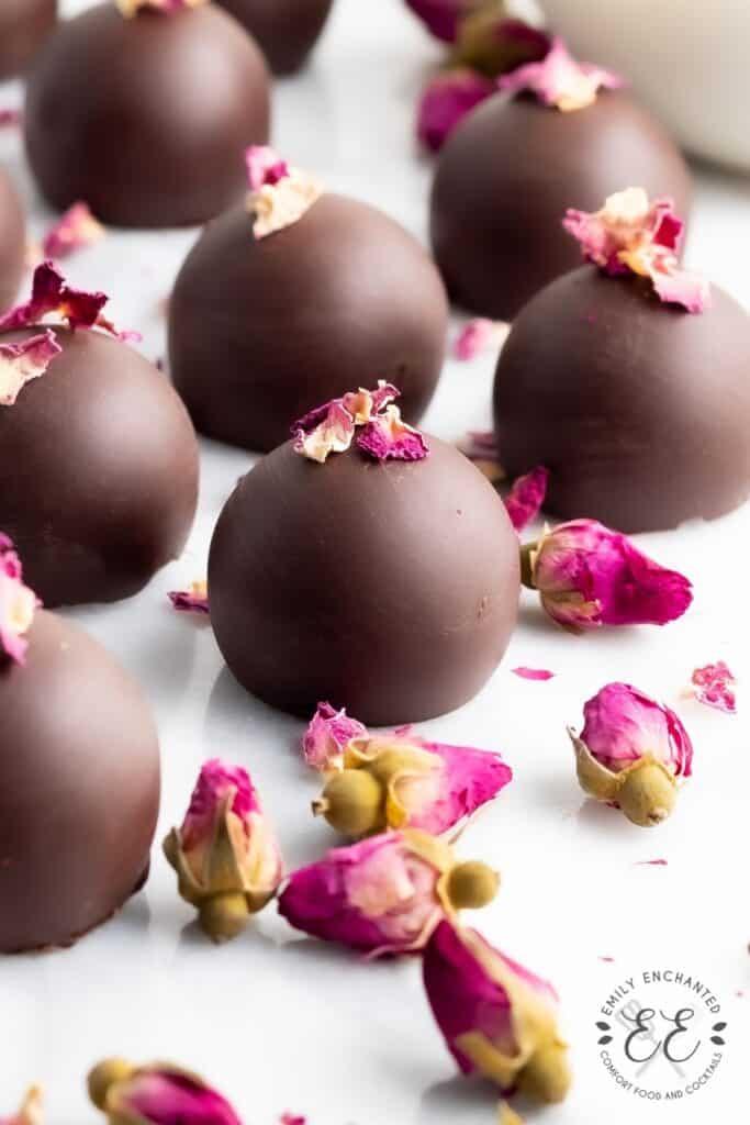 Chocolate Rose Truffles