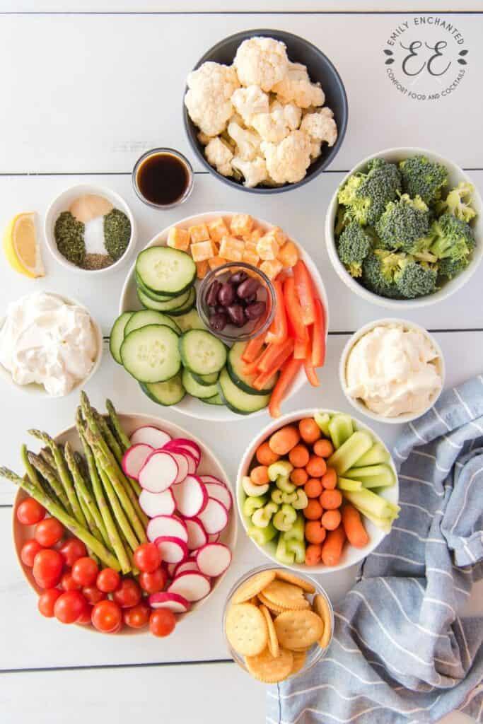 Veggie Tray Ingredients