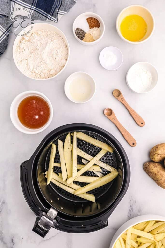 How to make thick cut fries in an air fryer