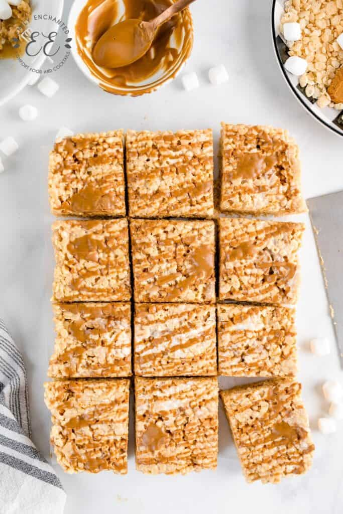 Rice Krispie Treats with Cookie Butter