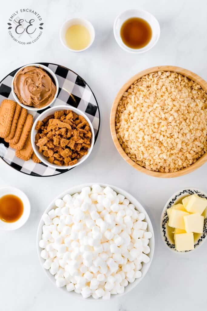 Cookie Butter Rice Krispie Ingredients
