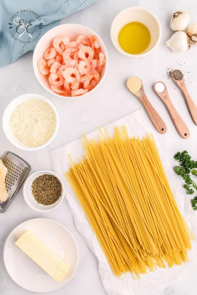 Garlic Shrimp Pasta Ingredients
