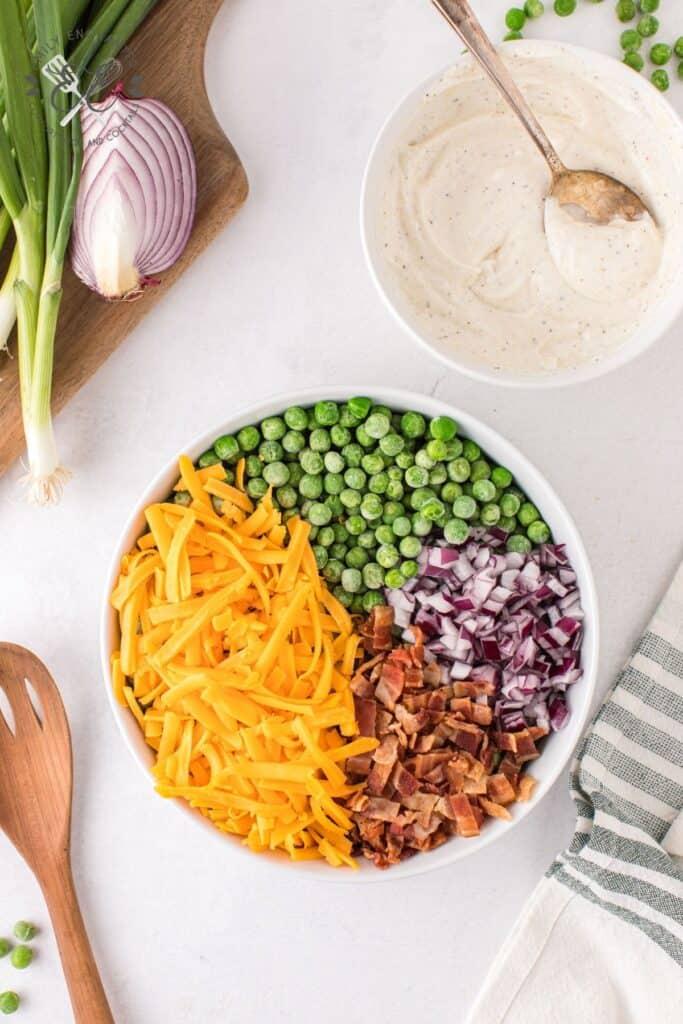 Pea Salad Ingredients