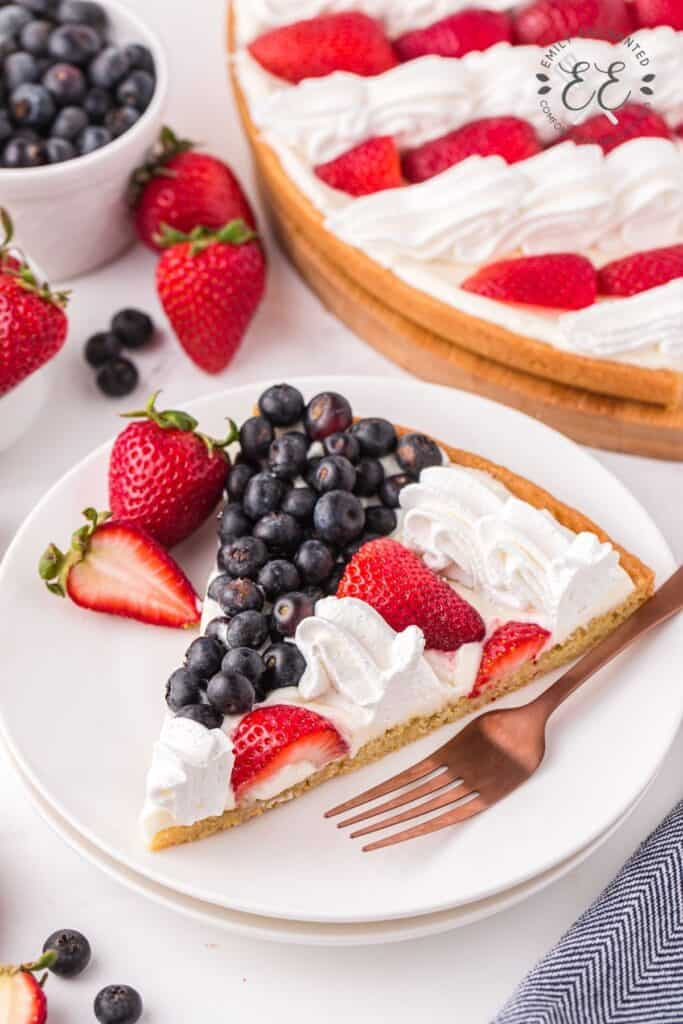 Red White and Blue Dessert with Fruit
