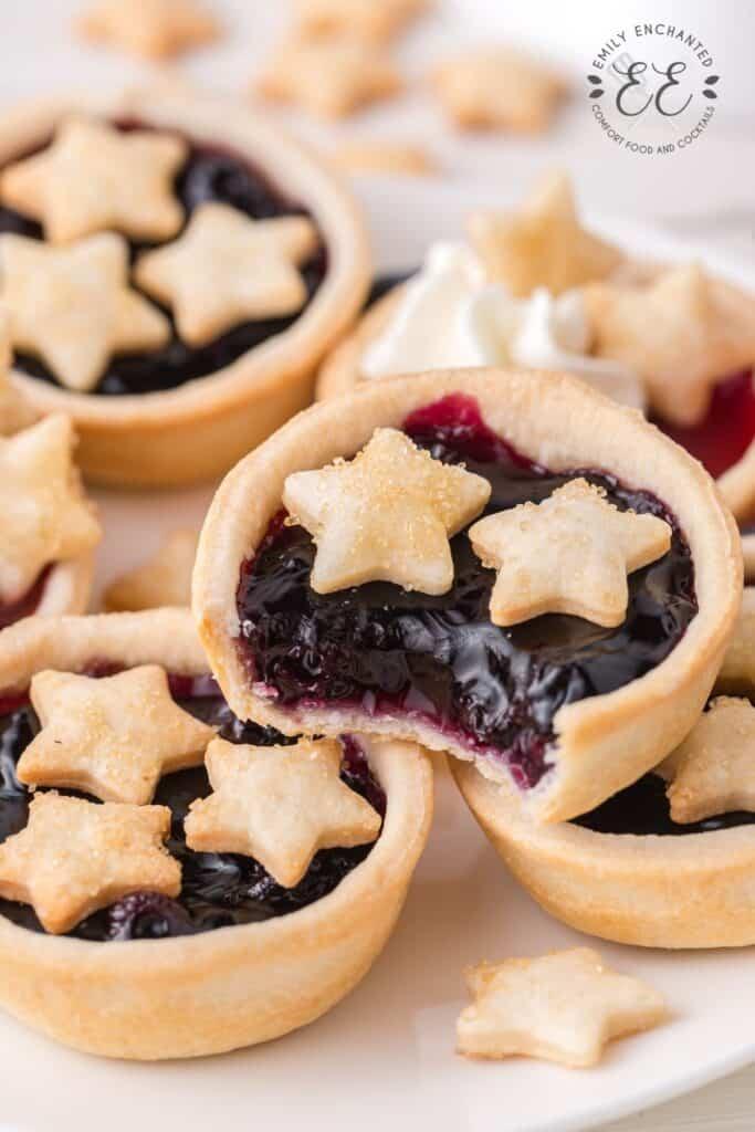 Mini Blueberry Pie Bites with stars