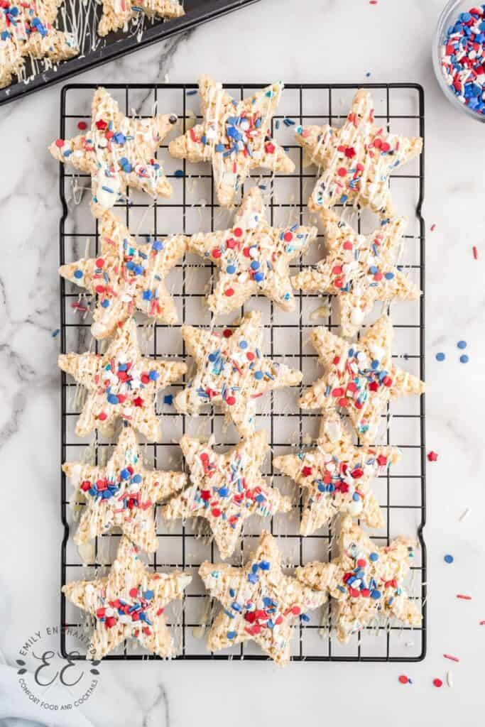 Patriotic Rice Crispy Treats