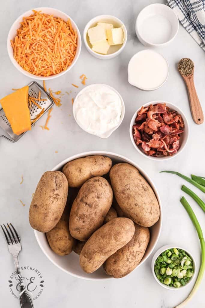 Loaded Potato Casserole Ingredients