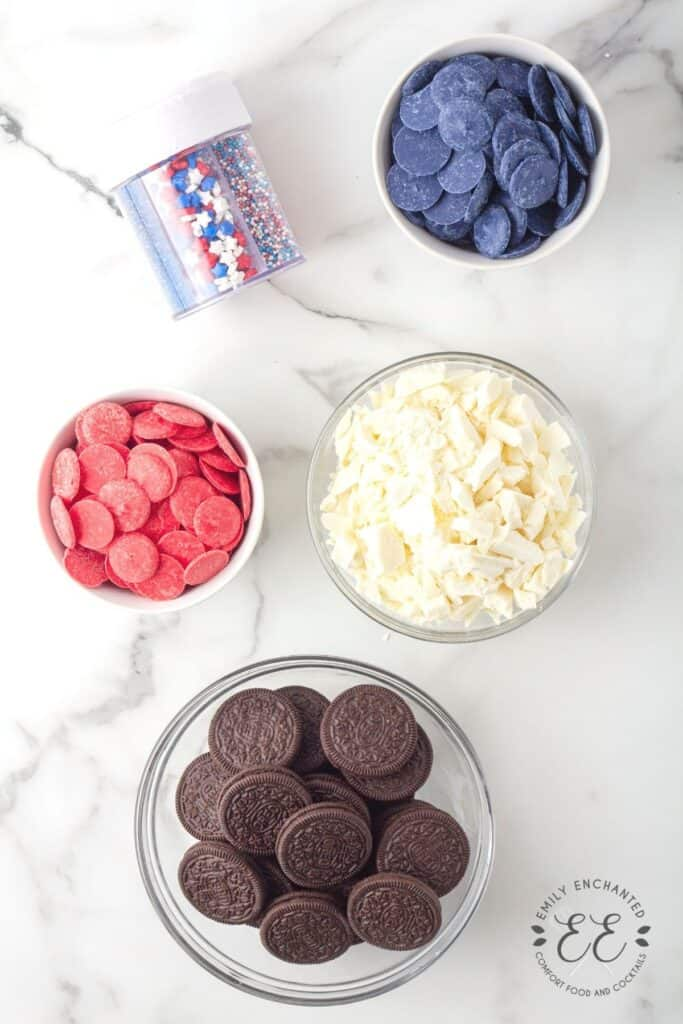 4th of July Oreo Ingredients