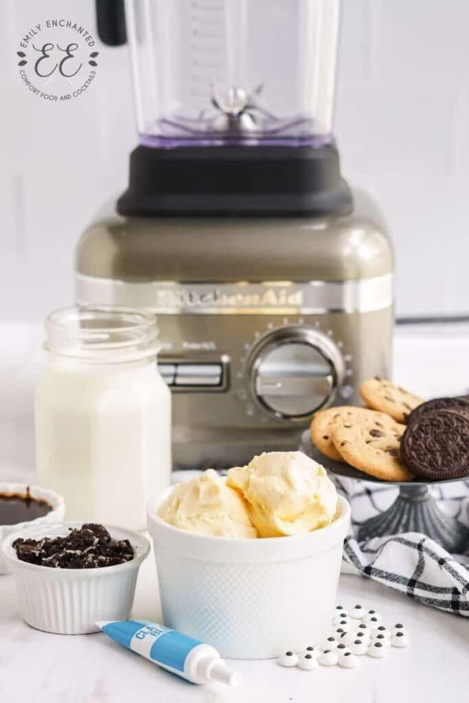 Milkshake Ingredients and a Blender