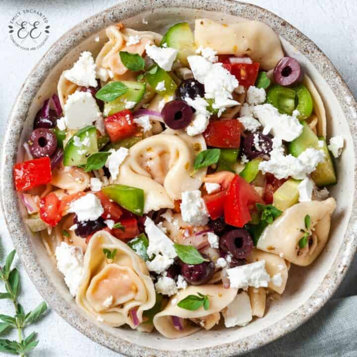 Greek Pasta Salad with Tortellini